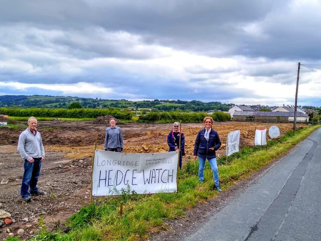 LEG members campaigning  in 2020 to save hedgerows