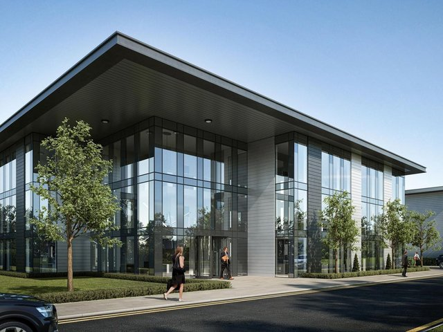 A visual of Titan Business Park commercial units
