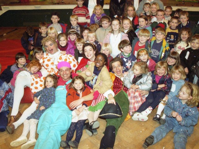 Who's afraid of the big bad wolf? These children certainly aren't as they came to the rescue of Red Riding Hood in an Applause Productions Show at Fulwood Leisure Centre in Preston