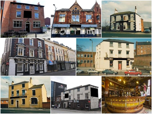 Can you identify these past and present Preston pubs