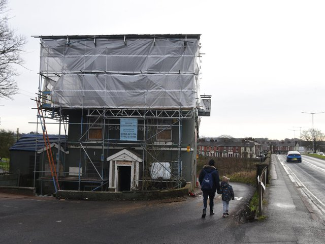 Work is taking place at the historic former pub