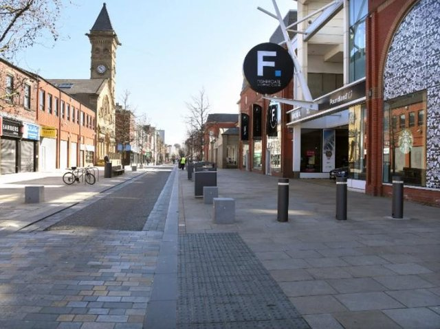 The eerie quiet of an empty Fishergate.