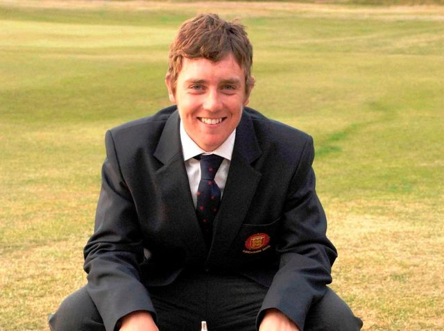 Not quite an eight-year-old Tommy Fleetwood in this picture, but still quite young!