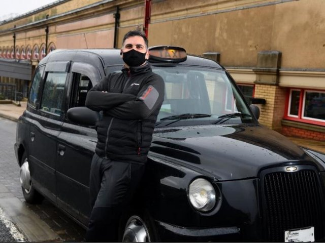 Zafar Iqbal says black cab trade has lost 90 per cent of fares during pandemic.