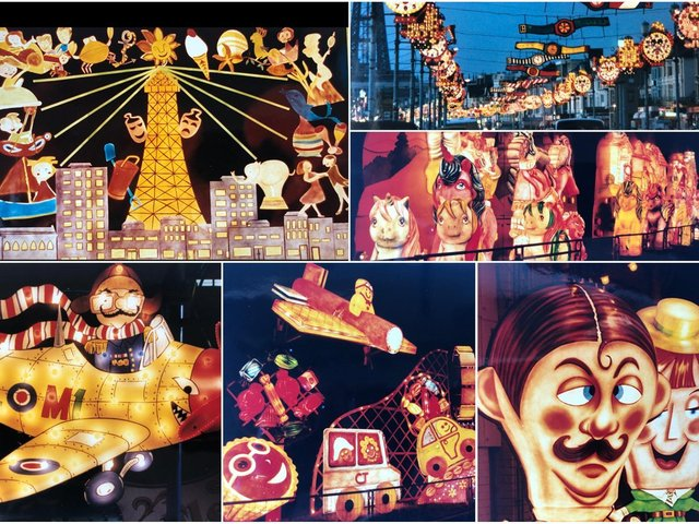 The Blackpool Illuminations of years gone by