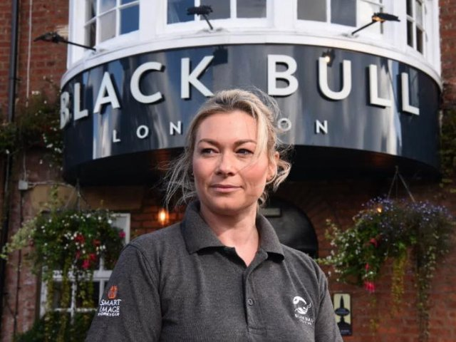 Janine Vanden says she needs to think things over before deciding whether to open the Black Bull in April for outdoor service only.