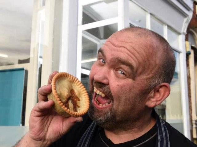 Pie master Paul Addison is adamant - a pie has a crust on top.