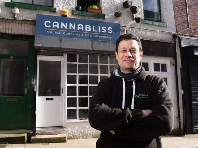 Mike Dobson is getting the dispensary ready for an April 12 opening.