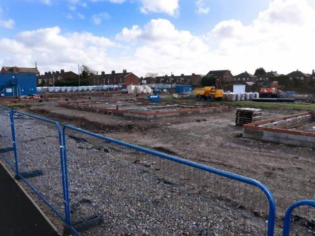 Foundations are already in place for houses on Burscough's old pitch.