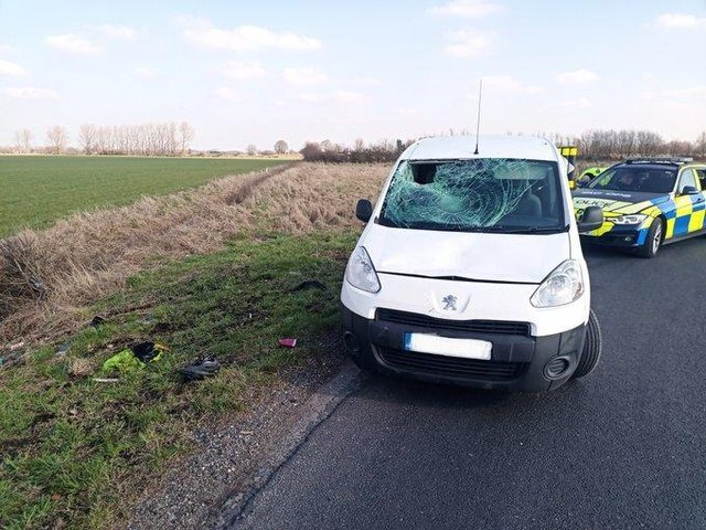 The aftermath of the crash. (Credit: Lancashire Police)
