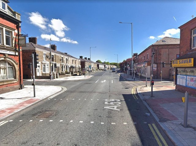 The incident occurred on New Hall Lane close to the junction with Acregate Lane. (Credit: Google)