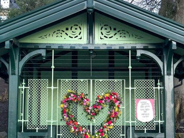 Stef Dore's 'heart in the park'. Photo: Stef Dore.