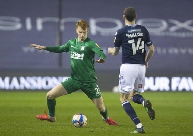 Preston North End's Sepp van den Berg and Millwall's Scott Malone