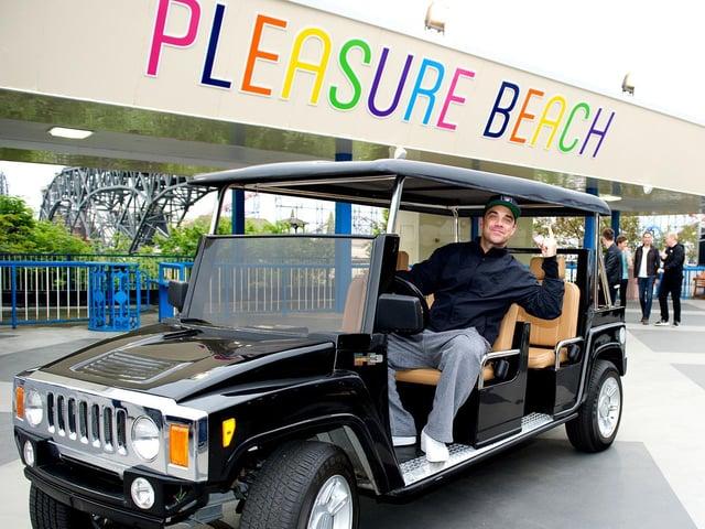 Robbie Williams at Blackpool Pleasure Beach