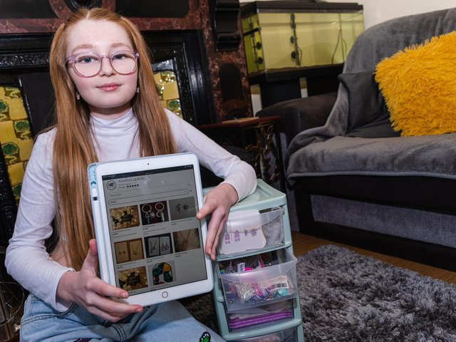 Jewellery designer Amelie Bolton is already a successful businesswoman at the age of 13