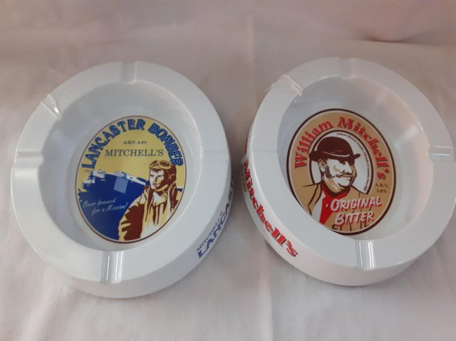 These ashtrays have a local connection but are quite common. They are two pounds each