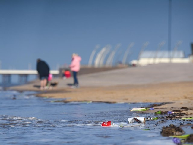 The proliferation of plastic, increased rainfall and rising sea levels are putting our beaches at risk, an environment group has warned. Photo: Daniel Martino/JPI Media