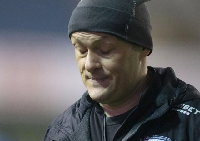 Alex Neil pictured at The Den following PNE's defeat on Tuesday night