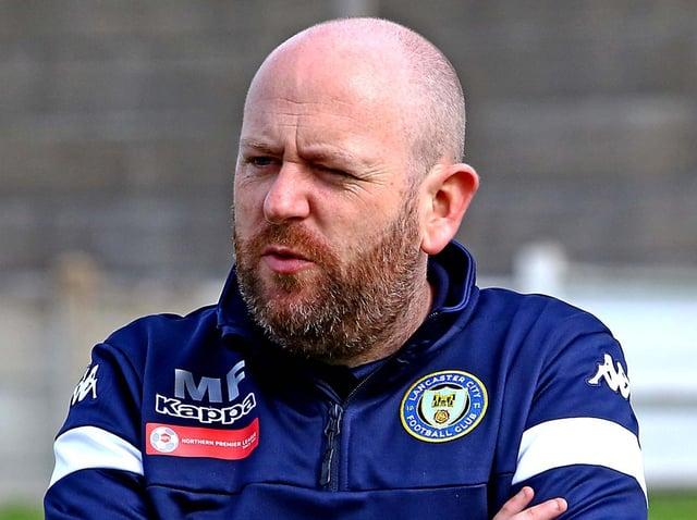 Lancaster City boss Mark Fell