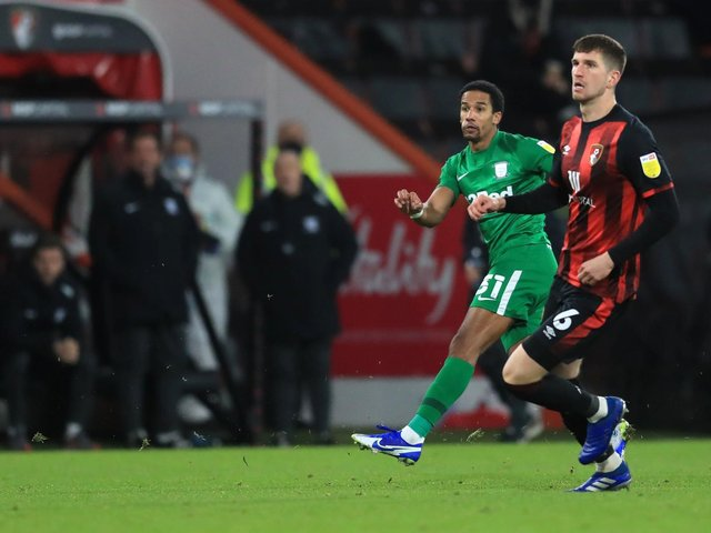 Scott Sinclair scores from 40 yards against Bournemouth at the Vitality Stadium in December