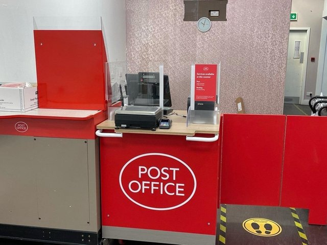The counter at the new post office in Chorley