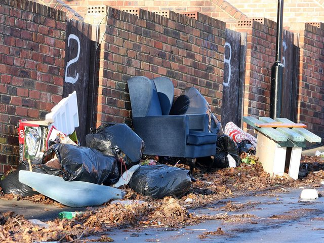 Fly-tipped waste discovered eight times a day in Preston