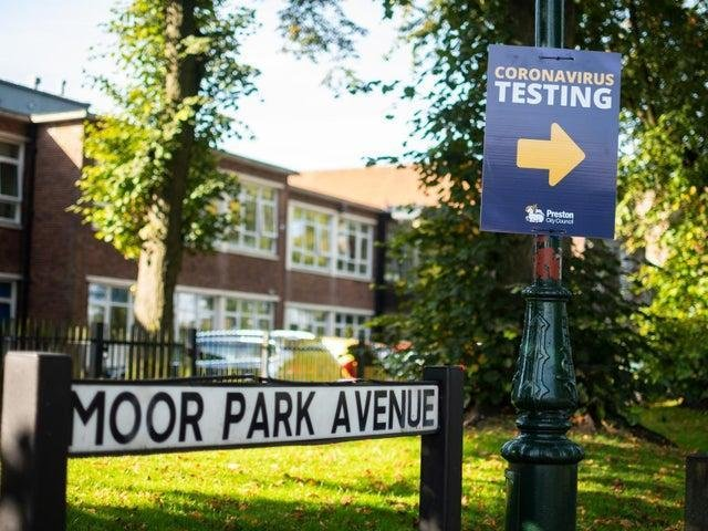 """A new Covid testing centre has opened in Moor Park Avenue, Preston """"for the next few days"""", says Preston City Council"""