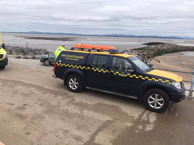 Morecambe coastguard were called out to rescue someone stuck in mud in Morecambe Bay.