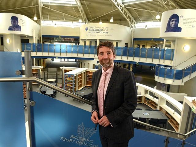 Photo Neil Cross; Fulwood Academy head teacher David Lancaster.