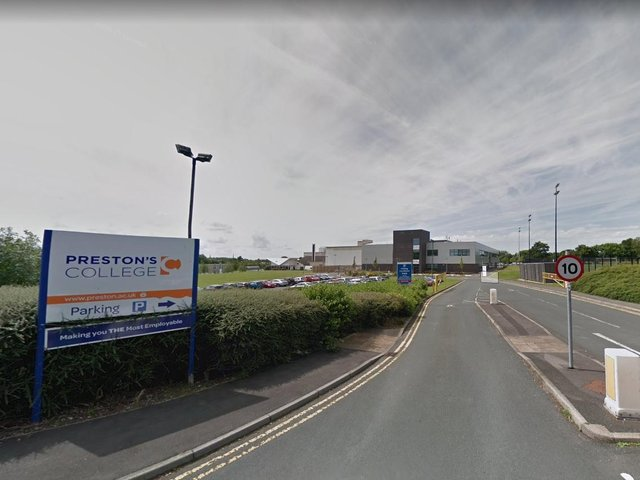 Staff at Royal Preston Hospital will lose access to car parking spaces at Preston's College when students return to class today (Monday, March 8). Pic: Google