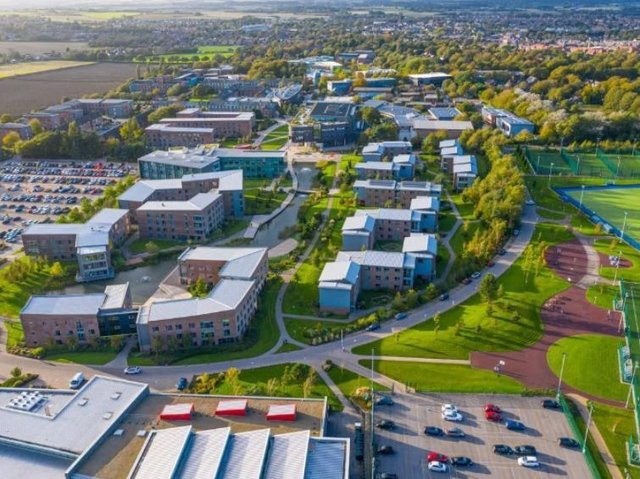 The Edge Hill campus at Ormskirk.