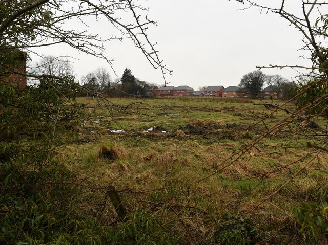 The plot off Sandy Lane where 51 affordable properties will be built