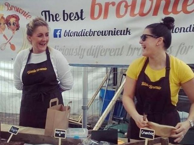 The founders of Blondie Brownie, Natalie Mitchell (left) and Kayleigh Blacklock
