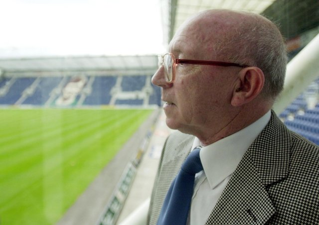 The late Nobby Stiles pictured at Deepdale