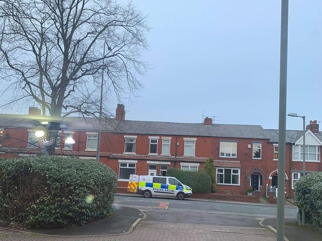 Police at the scene of the cannabis farm in Watkin Lane, Lostock Hall yesterday (Tuesday, March 9)