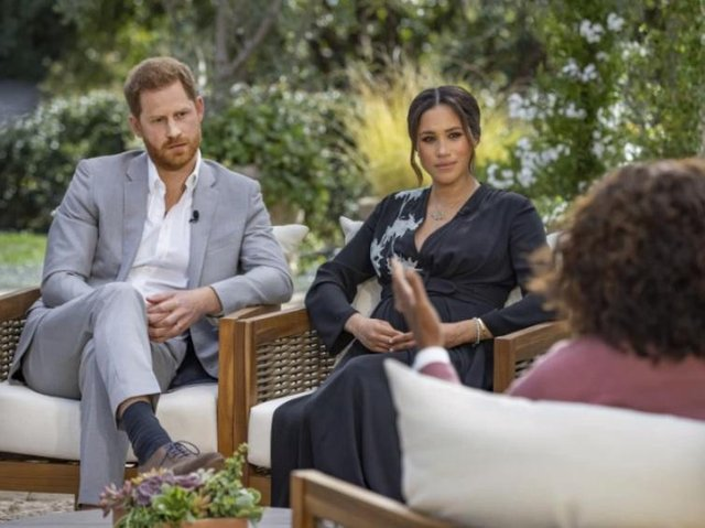 The interview - Harry and Meghan in conversation with Oprah Winfrey.