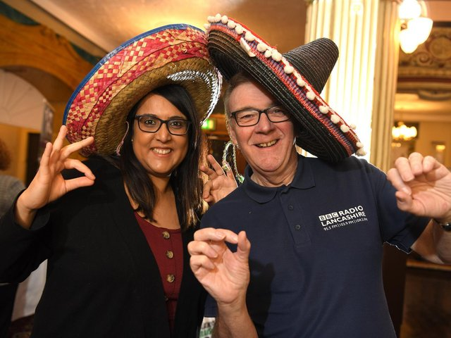 Nish with her former co-presenter John Gillmore