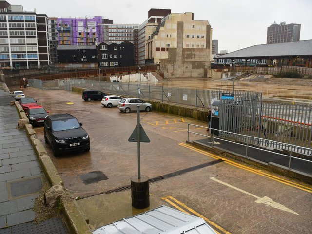 The temporary car park on the site of the former multi-storey facility opened in January 2020 (image: Neil Cross)