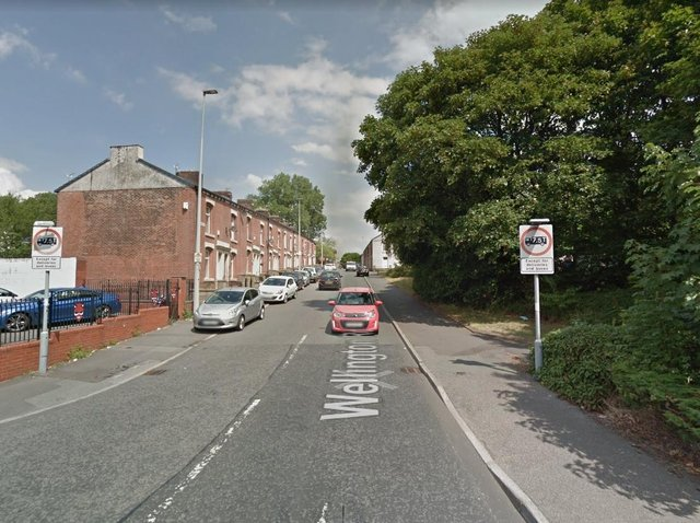 A woman in her 30s was struck by a car as she was walking along Wellington Road. (Credit: Google)
