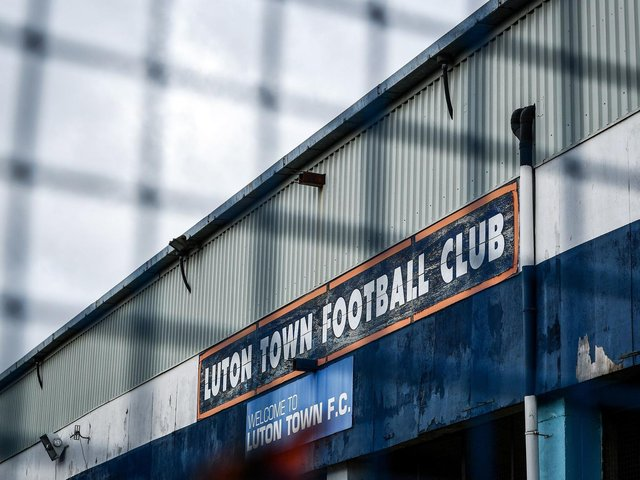 The gates are locked at Kenilworth Road on Saturday, March 14, 2020...the day PNE should have visited Luton Town