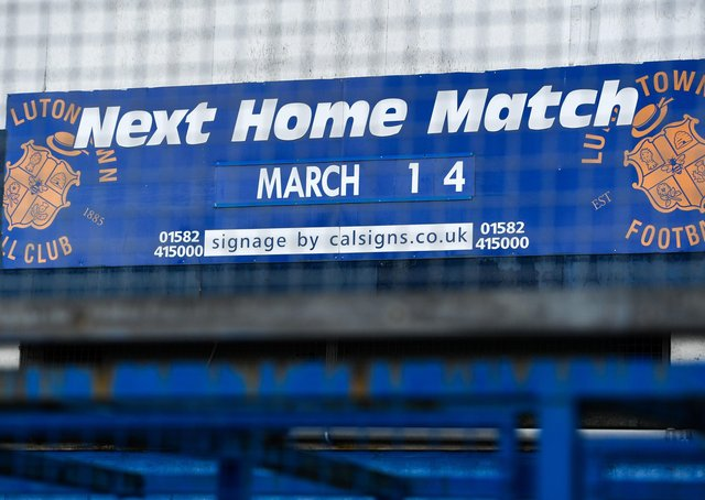 Preston were due to visit Luton's Kenilworth Road on March  14 last year (above) but football was suspended the day before
