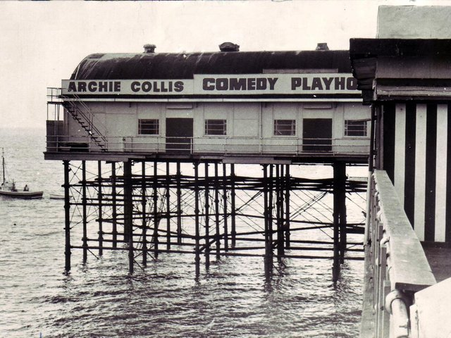 Morecambe Central Pier Comedy Playhouse Theatre. Dated 21 May 1975. From LEP archives.