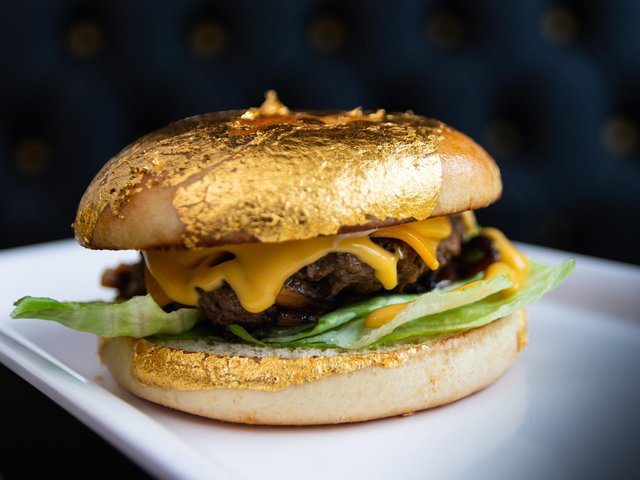 The gold burger available from the Food Lab in Preston