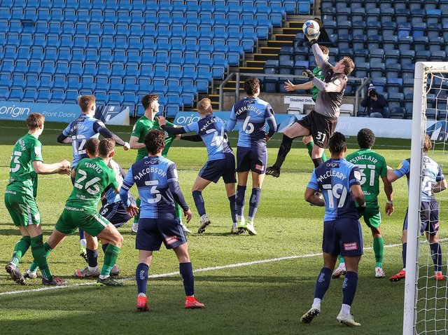 Preston North End mount a first-half attack against Wycombe