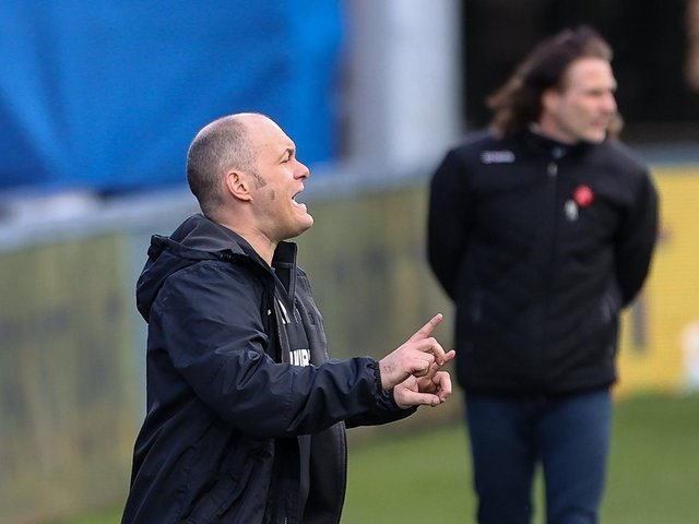 Preston North End Alex Neil in the techical area at Wycombe