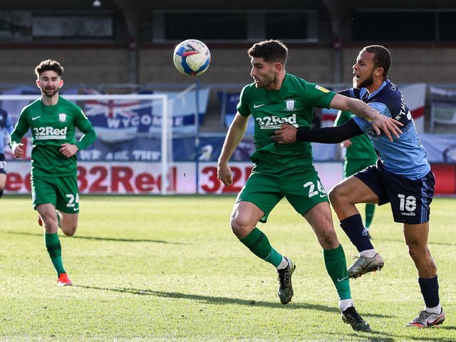 Ched Evans in action against Wycombe.