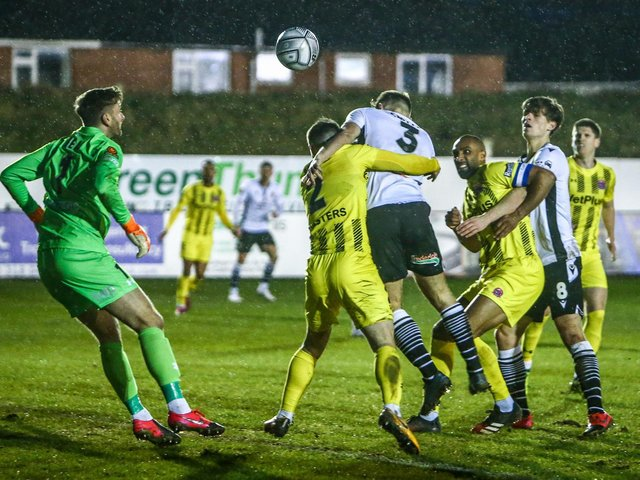 Chorley in action against AFC Fylde this season (photo: Stefan Willoughby)
