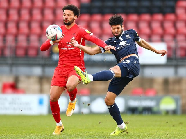 Nat Knight-Percival could return from injury for Morecambe this weekend