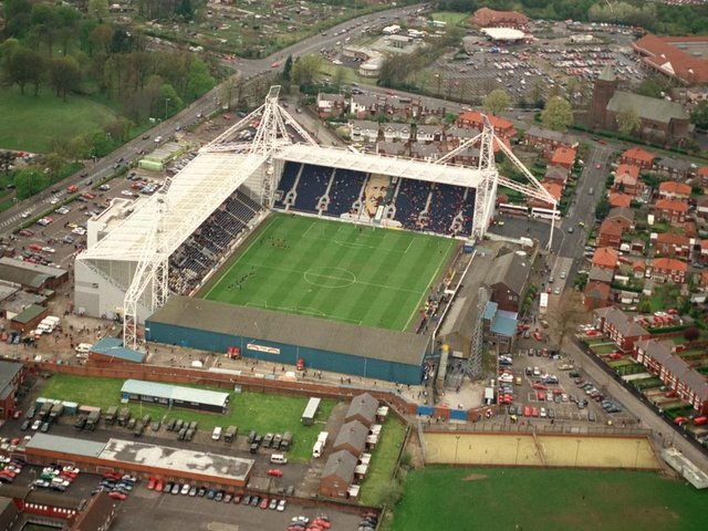 Deepdale Stadium only had two completed stands