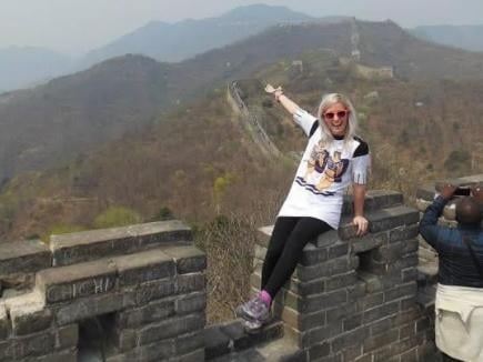 Amy on the Great Wall of China.